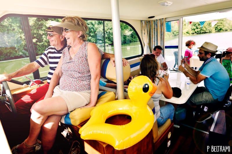 location de bateau en Anjou : moment de partage